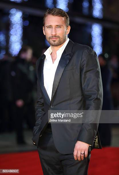 Matthias Schoenaerts attends the UK Film Premiere of The Danish Girl on December 8 2015 in London United Kingdom