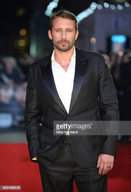 Matthias Schoenaerts attends the UK Film Premiere of 'The Danish Girl' on December 8 2015 in London United Kingdom