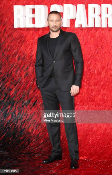Matthias Schoenaerts attneds the European Premeire of 'Red Sparrow' at Vue West End on February 19 2018 in London England