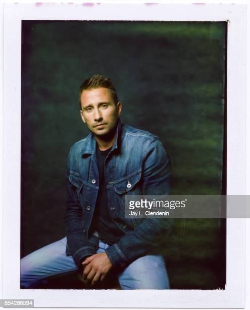 Matthias Schoenaerts from the film 'Racer and the Jailbird' is photographed on polaroid film at the LA Times HQ at the 42nd Toronto International...