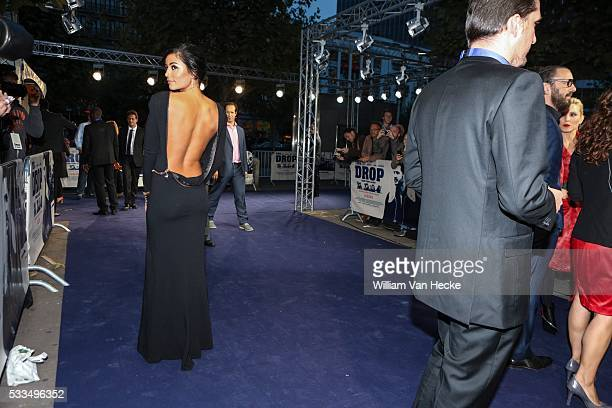 Matthias Schoenaerts' girlfriend Alexandra Schouteden pictured at the premiere of the movie 'The Drop' at De Brouckere in Brussels