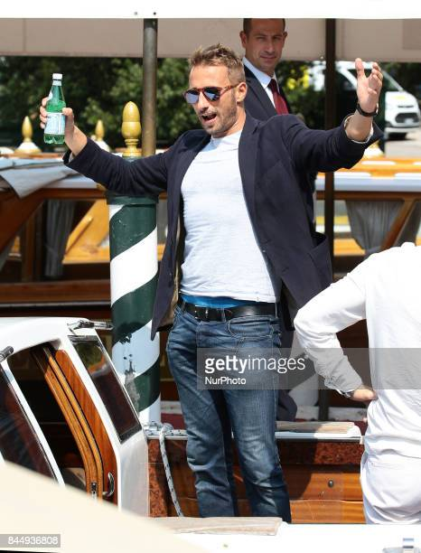 Matthias Schoenaerts leave from Hotel Excelsior in Venice Italy on September 9 2017