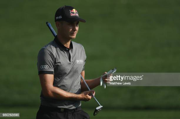 Matthias Schwab of Austria looks on during day four of the Hero Indian Open at Dlf Golf and Country Club on March 11 2018 in New Delhi India