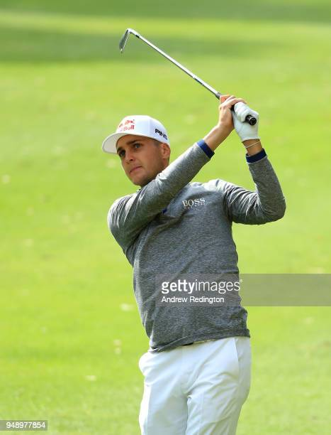 Matthias Schwab of Austria on the 8th hole during the second round of the Trophee Hassan II at Royal Golf Dar Es Salam on April 20 2018 in Rabat...
