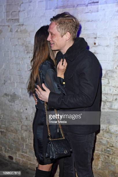 Matthias Schweighoefer and his girlfriend Ruby O Fee attend the Pantaflix Pantaparty during 69th Berlinale International Film Festival at Alte Muenze...