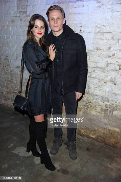 Matthias Schweighoefer and his girlfriend Ruby O. Fee attend the Pantaflix Pantaparty during 69th Berlinale International Film Festival at Alte...
