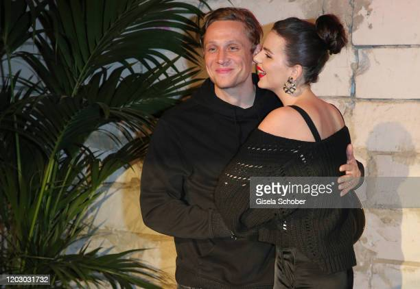Matthias Schweighoefer and his girlfriend Ruby O Fee during the Pantaflix Party as part of the 70th Berlinale International Film Festival at Neuzeit...