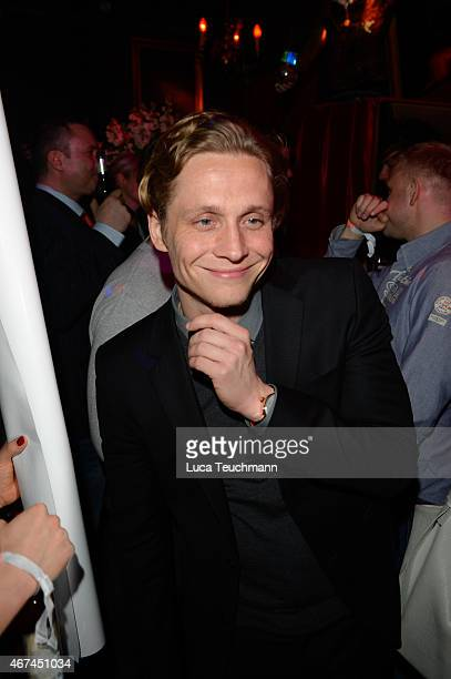 Matthias Schweighoefer attends the German premiere of the film 'Der Nanny' at CineStar on March 24 2015 in Berlin Germany