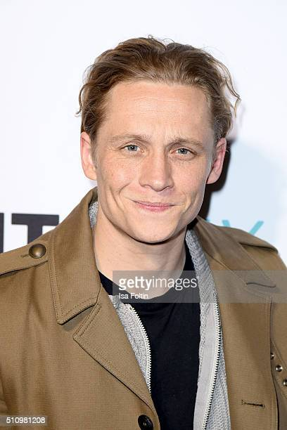 Matthias Schweighoefer attends the PantaFlix Party on February 17 2016 in Berlin Germany
