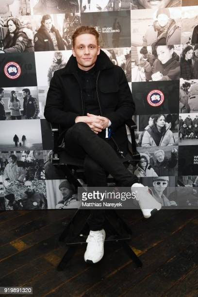 Matthias Schweighoefer attends the Studio Babelsberg Night X Canada Goose on the occasion of the 68th Berlinale International Film Festival at Soho...