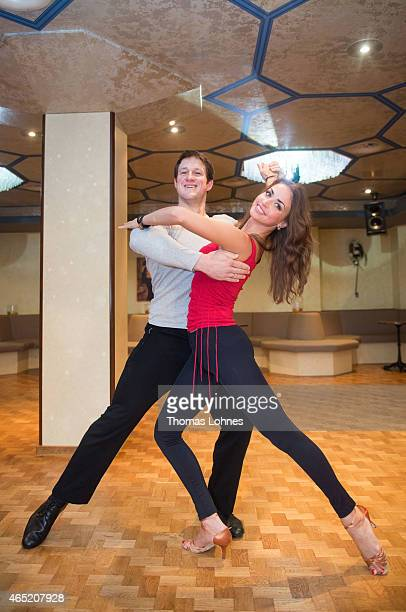 Matthias Steiner and dancer Ekaterina Leonova pose at a photo call for the television competition 'Let's Dance' on March 4 2015 in Heidelberg Germany...