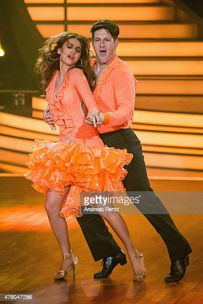 Matthias Steiner and Ekaterina Leonova perform on stage during the final show of the television competition 'Let's Dance' on June 5 2015 in Cologne...