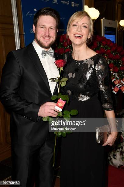 Matthias Steiner and his wife Inge Steiner arrive for the Semper Opera Ball 2018 at Semperoper on January 26 2018 in Dresden Germany