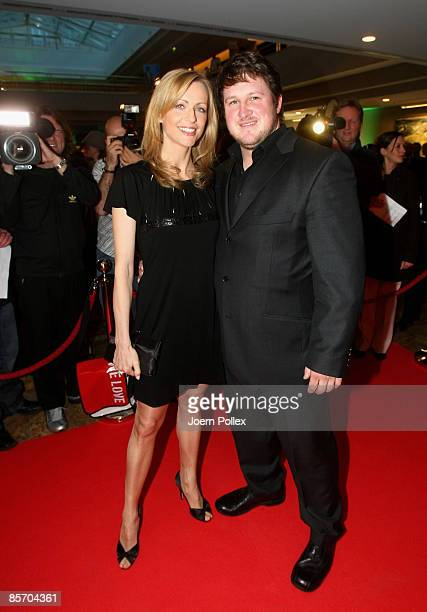 Matthias Steiner arrives with Inge Posmyk for the Herbert Award 2009 Gala at the Elysee Hotel on March 30 2009 in Hamburg Germany
