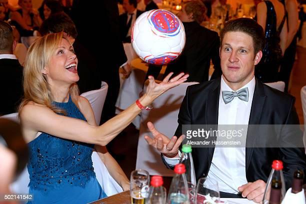 Matthias Steiner attends with Inge Steiner the Sportler des Jahres 2015 gala at Kurhaus Baden-Baden on December 20, 2015 in Baden-Baden, Germany.