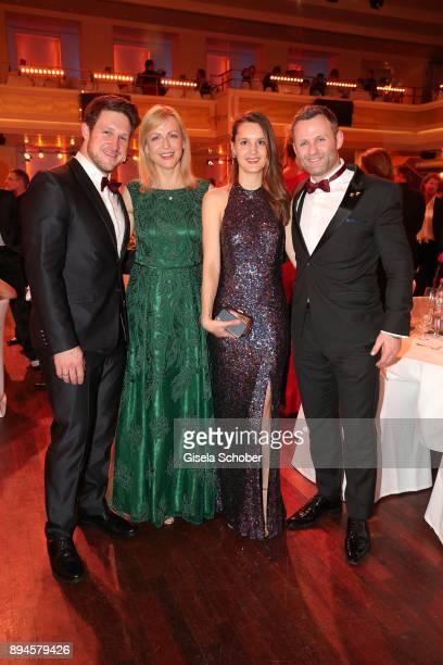 Matthias Steiner, Inge Steiner, Ina Bischof, Ole Bischof during the 'Sportler des Jahres 2017' Gala at Kurhaus Baden-Baden on December 17, 2017 in...