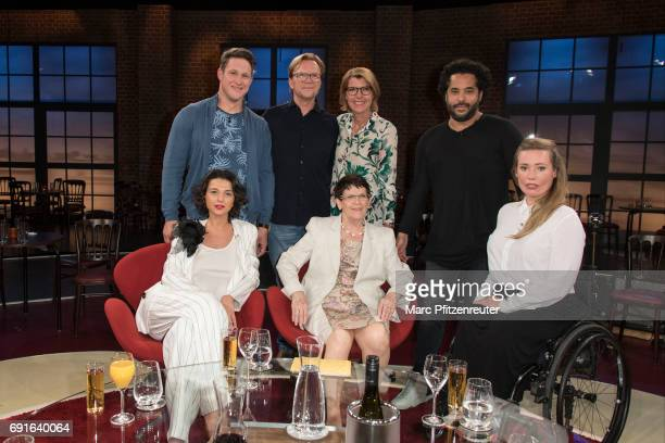 Matthias Steiner Wolfgang Lippert Bettina Boettinger Adel Tawil Khatia Buniatishvili Rita Suessmuth and Laura Gehlhaar attend the 'Koelner Treff' TV...