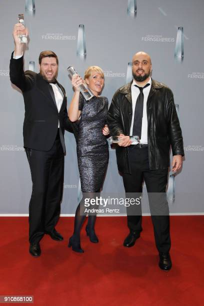 Matthias Walter and Abdelkarim Zemhoute pose with their award during the German Television Award at Palladium on January 26 2018 in Cologne Germany