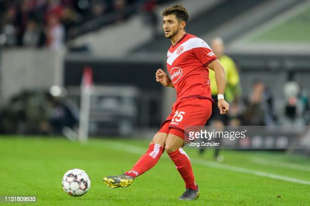 Matthias Zimmermann of Fortuna Duesseldorf controls the ball during the Bundesliga match between Fortuna Duesseldorf and 1. FC Nuernberg at the...