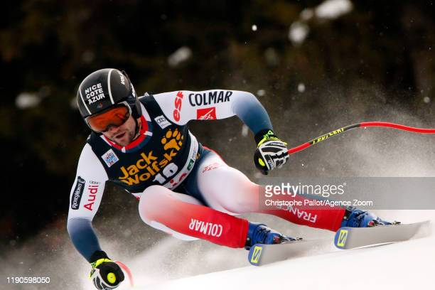 Matthieu Bailet of France in action during the Audi FIS Alpine Ski World Cup Men's Downhill on December 27, 2019 in Bormio Italy.