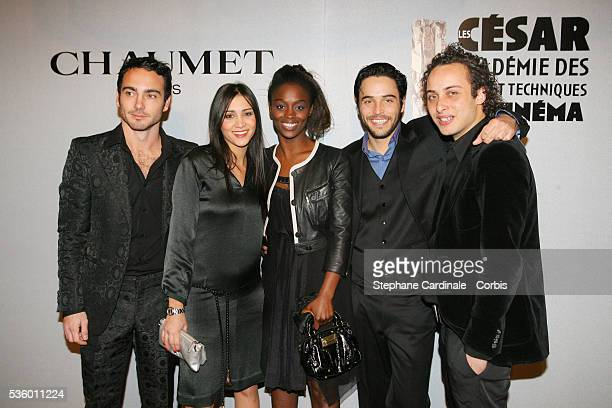 Matthieu Boujenah Morjana Alaoui Aissa Maiga Assaad Bouab and Rachid Banhassain attend the Chaumet 'Revelations' exhibition party