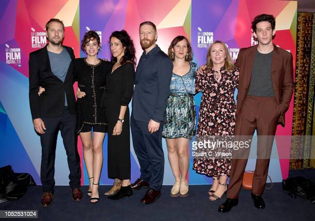 Matthieu De Braconier Laia Costa Harry Wootliff Tristan Goligher guest Claire Mundell and Josh O'Connor attend the European Premiere of 'Only You'...
