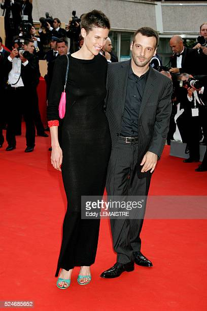 Matthieu Kassovitz and Aurore Lagache at the premiere of Over the Hedge during the 59th Cannes Film Festival