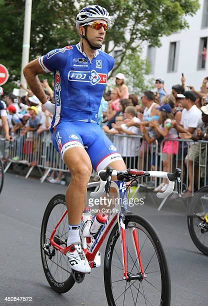 Matthieu Ladagnous of France and FDJfr in action during the twenty one and last stage of the 2014 Tour de France a 134 km individual time trial stage...