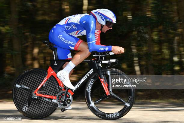 Matthieu Ladagnous of France and Team Groupama - Fdj / during the 14th BinckBank Tour 2018, Stage 2 a 12,7km Individual Time Trial stage from Venray...