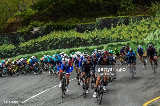 Matthieu Ladagnous of France and Team Groupama - FDJ, Eddie Dunbar of Ireland, Laurens De Plus of Belgium and Team INEOS Grenadiers & The Peloton...