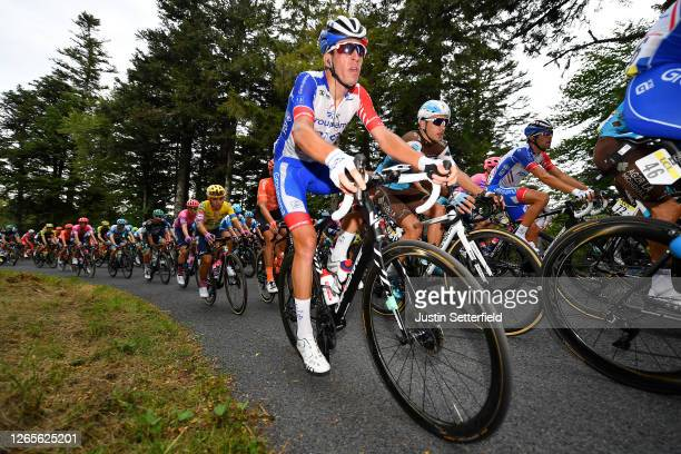 Matthieu Ladagnous of France and Team Groupama - FDJ / Nans Peters of France and Team Ag2R La Mondiale / Thibaut Pinot of France and Team Groupama -...