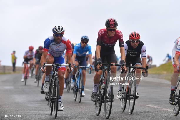 Matthieu Ladagnous of France and Team Groupama-FDJ / Dylan van Baarle of The Netherlands and Team INEOS / Fabio Felline of Italy and Team...