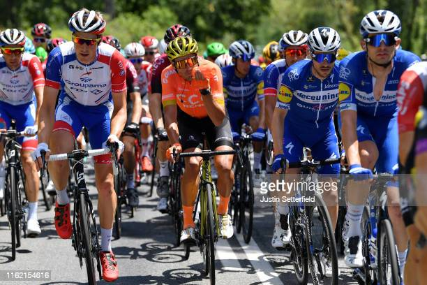 Matthieu Ladagnous of France and Team Groupama-FDJ / Stefan Küng of Switzerland and Team Groupama-FDJ / Greg Van Avermaet of Belgium and CCC Team...