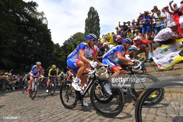 Matthieu Ladagnous of France and Team Groupama-FDJ / William Bonnet of France and Team Groupama-FDJ / De Muur van Geraardsbergen / Cobblestones /...