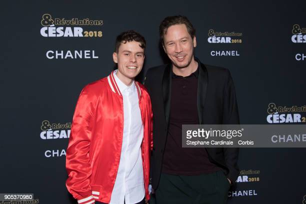 Matthieu Lucci and Reda Kateb attend the 'Cesar Revelations 2018' Party at Le Petit Palais on January 15 2018 in Paris France