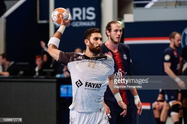 Matthieu Ong of Pays d'Aix Universite during the Lidl Starligue match between Paris Saint Germain and Pays d'Aix Universite Club at Stade Pierre de...