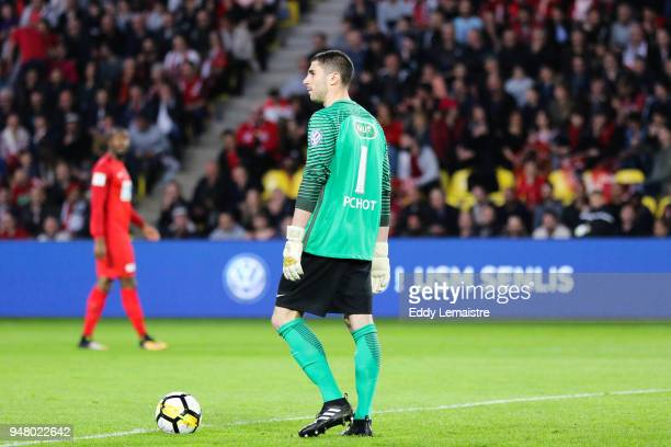 Matthieu Pichot of Les Herbiers during the French Cup semi final match between Les Herbiers and Chambly at Stade de la Beaujoire on April 17 2018 in...