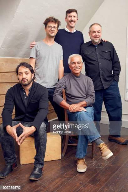 Matthieu Rytz and Anote Tong of Anote's Ark pose for a portrait with producers in the YouTube x Getty Images Portrait Studio at 2018 Sundance Film...