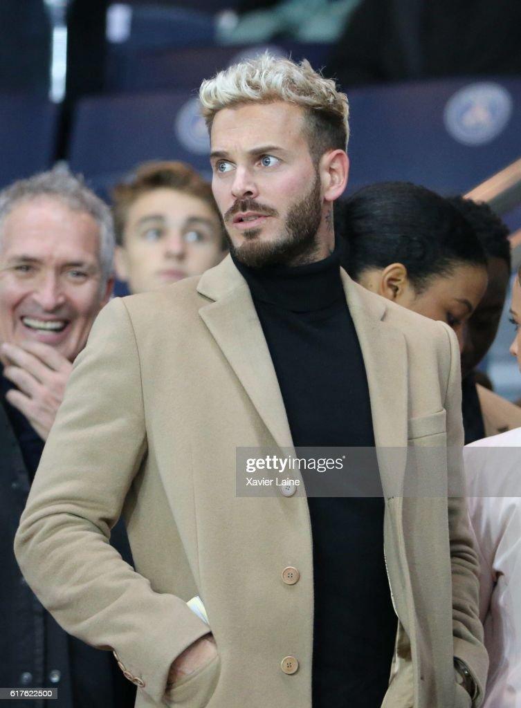 Matthieu Tota dit Matt Pokora attends the French Ligue 1 match between Paris Saint-Germain and Olympique de Marseille at Parc des Princes on october 23, 2016 in Paris, France.