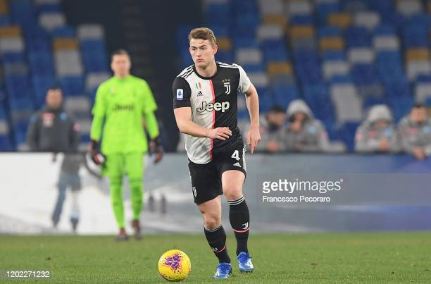 Matthijs de Light of Juventus during the Serie A match between SSC Napoli and Juventus at Stadio San Paolo on January 26, 2020 in Naples, Italy.