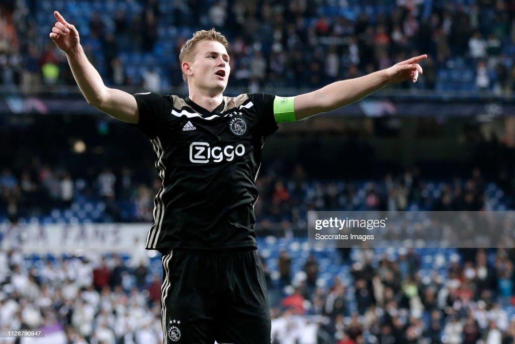Real Madrid v Ajax - UEFA Champions League : News Photo
