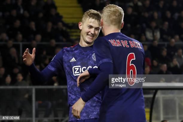 Matthijs de Ligt of Ajax Donny van de Beek of Ajax during the Dutch Eredivisie match between NAC Breda and Ajax Amsterdam at the Rat Verlegh stadium...
