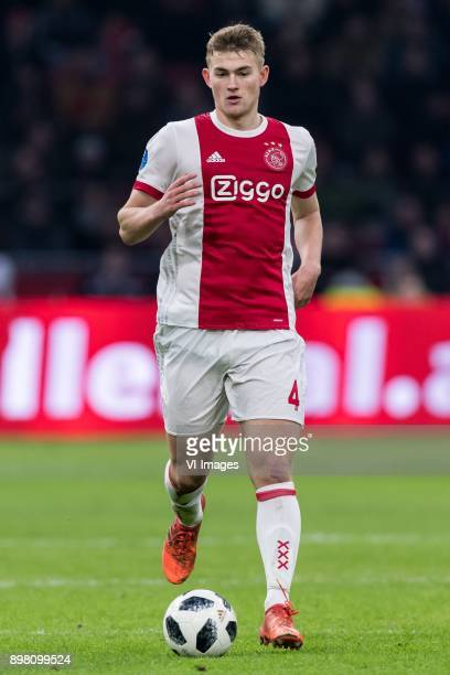 Matthijs de Ligt of Ajax during the Dutch Eredivisie match between Ajax Amsterdam and Willem II Tilburg at the Amsterdam Arena on December 24 2017 in...