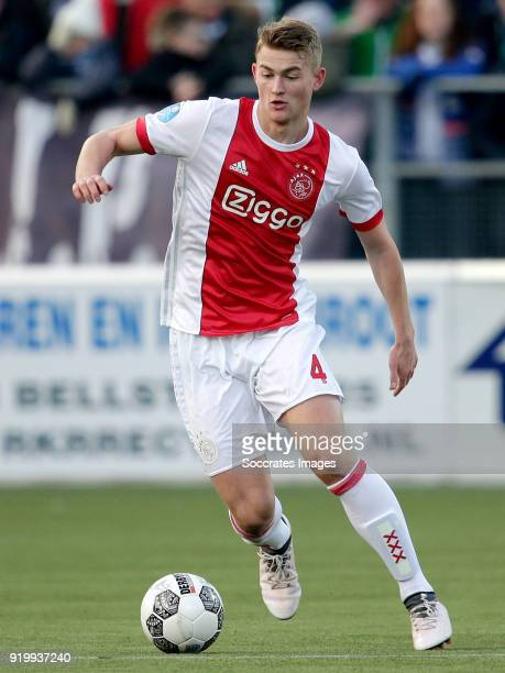 Matthijs de Ligt of Ajax during the Dutch Eredivisie match between PEC Zwolle v Ajax at the MAC3PARK Stadium on February 18 2018 in Zwolle Netherlands