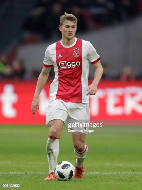 Matthijs de Ligt of Ajax during the Dutch Eredivisie match between Ajax v Feyenoord at the Johan Cruijff Arena on January 21 2018 in Amsterdam