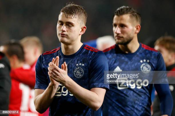 Matthijs de Ligt of Ajax during the Dutch KNVB Beker match between Fc Twente v Ajax at the De Grolsch Veste on December 20, 2017 in Enschede...