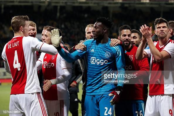 Matthijs De Ligt Of Ajax, Dusan Tadic Of Ajax, Andre Onana