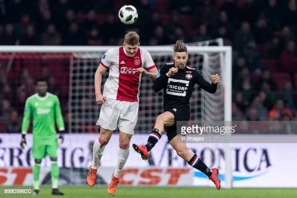 Matthijs de Ligt of Ajax Fran Sol of Willem II during the Dutch Eredivisie match between Ajax Amsterdam and Willem II Tilburg at the Amsterdam Arena...