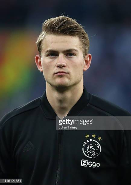 Matthijs de Ligt of Ajax lines up before the UEFA Champions League Semi Final first leg match between Tottenham Hotspur and Ajax at at the Tottenham...