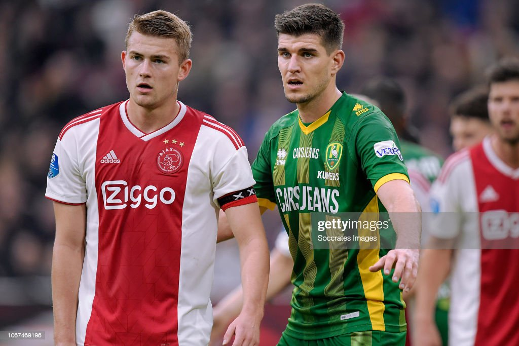 Matthijs De Ligt Of Ajax Nick Kuipers Of Ado Den Haag During The News Photo Getty Images